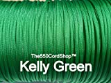 550 Paracord 100Ft ( Color:Kelly Green Kelly Green) by The550CordShop
