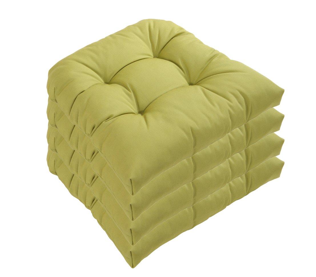 Dehner Sitzkissen Sarah, halbrund, 4 Stück, je ca. 42 x 40 x 4 cm, grün kaufen