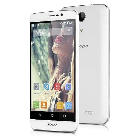 ZOPO Speed 7 Plus Smartphone Débloqué 4G LTE (Ecran : 5,5 Pouces - MT6753 Octa-Core - 3Go RAM 16Go ROM-13.0MP Caméra - Dual SIM - Android 5.1 Lollipop) Blanc
