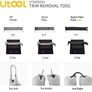 UTOOL Auto Trim Removal Tool 9 Pcs for Car Dash Audio Radio Door Panel Removal Tool with Ergonomic Design Nylon Fastener Remover (Color: black)
