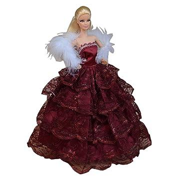 """Fuchsia Belle robe de soirée de la main Tenue pour 11.8"""" poupée"""