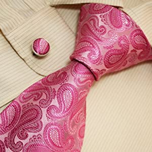 Brown Polka Dots Silk Tie Gifts for the Groom Handmade Silk Tie Cufflinks Set A1002