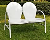 Griffith Metal Loveseat in White