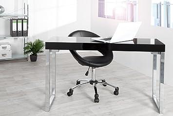 Design Laptoptisch WHITE DESK 120x40 cm Hochglanz schwarz Tisch Beistelltisch Schreibtisch Schminktisch