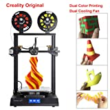 Creality CR-X 3D Printer Dual Extruder DIY KIT Touch Screen Large Print Size Dual Fan Cool and 2KG Filament