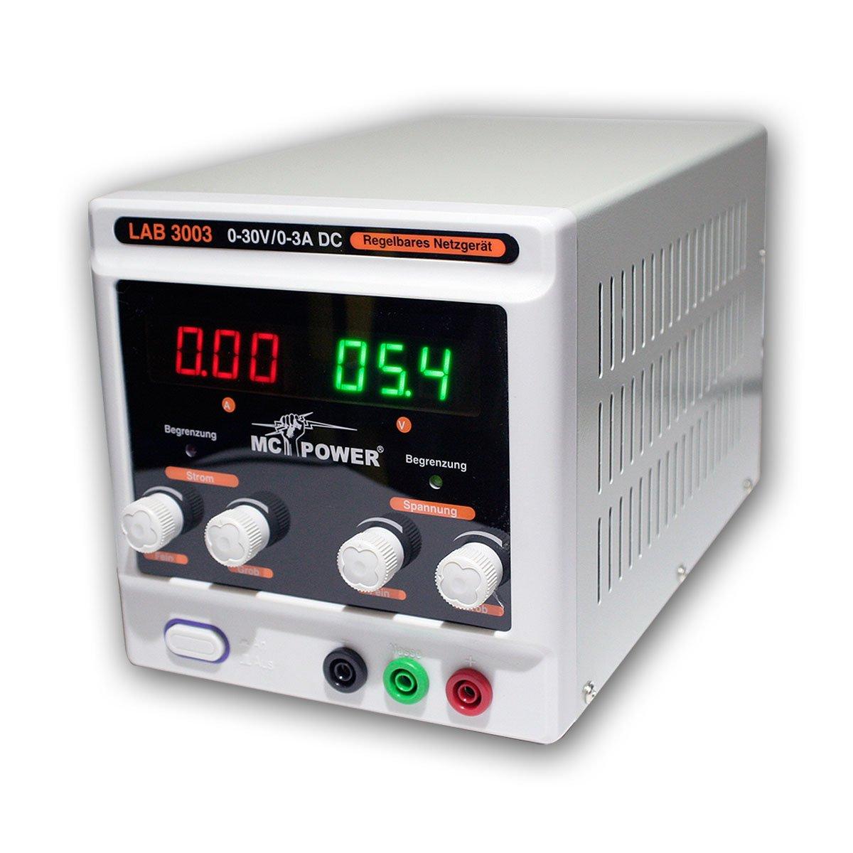 Labornetzgerät McPower LAB3003 030V, 03A regelbar  Überprüfung und Beschreibung