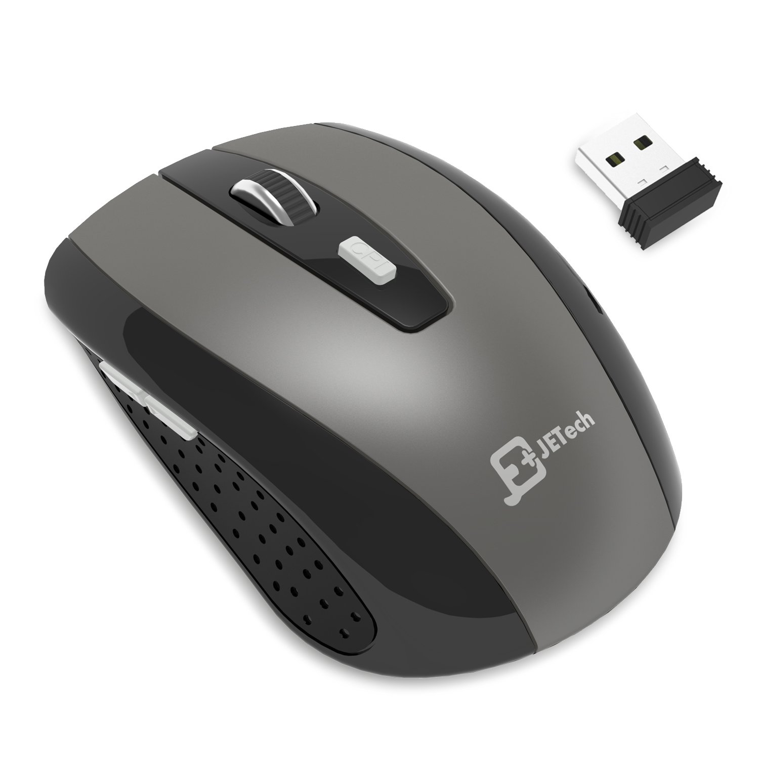 JETech 2.4Ghz Wireless Mobile Optical Mouse with 6 Buttons, 3 DPI Levels with USB Wireless Receiver (0770)