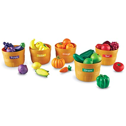 Amazon.com: Learning Resources Farmers Market Color Sorting Set: Toys & Games