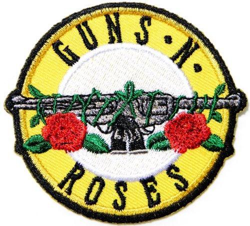 [GUNS N ROSES Band Logo Badge Sign Patch Sew Iron on Embroidery Applique Costume] (Top Gun Costume Patches)