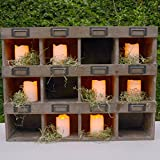 Set of 8 Flameless Votives Amber and Color Changing Modes - Batteries Included