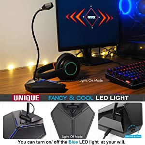 USB Computer Microphone, Plug &Play Desktop Omnidirectional Condenser PC Laptop Mic,Mute Button with LED indicator, compatible with Windows/Mac, ideal for Youtube,Skype,Recording,Games(1.5m /5ft) (Color: black)