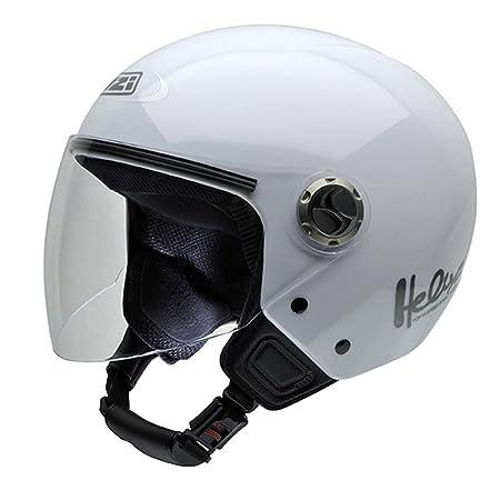 NZI 050180G001 Helix Iv White, Casque de Moto, Taille L Blanc
