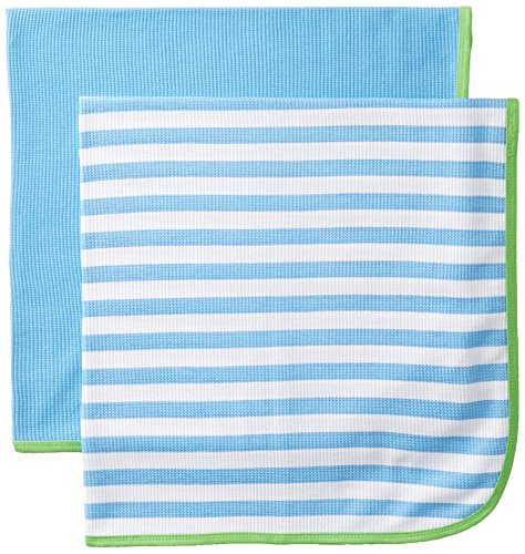 Gerber Baby-Boys Newborn 2 Pack Thermal Blanket, Blue, One Size