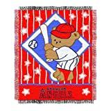 MLB Los Angeles Angels 36-Inch-by-46-Inch Woven Jacquard Baby Throw at Amazon.com