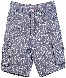 Oye Boys Cargo Short - Grey Blue (2-3Y)