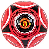Manchester United Unisex Star Football 5, Multi-Colour, Size 5