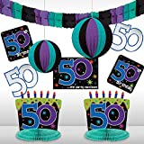 The Party Continues 50th Birthday Decorating Kit, 10 pc.