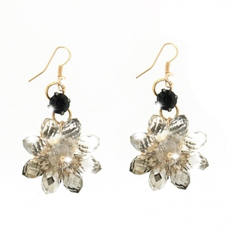 Sweet Deluxe Ohrringe COLLADA gold Blüten aus klaren Steinen in Black Diamond günstig bestellen