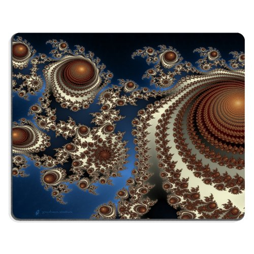 Pattern Intricate Brown Orbs Mouse Pads Customized Made To Order Support Ready 9 7/8 Inch (250Mm) X 7 7/8 Inch (200Mm) X 1/16 Inch (2Mm) High Quality Eco Friendly Cloth With Neoprene Rubber Liil Mouse Pad Desktop Mousepad Laptop Mousepads Comfortable Comp front-494469