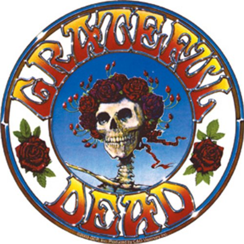 Licenses Products Grateful Dead Skull and Roses Sticker