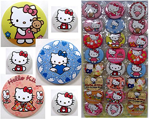 HELLO KITTY Button Pin Set - Birthday Party Favors -Set of 24 Hello Kitty Backpack 2