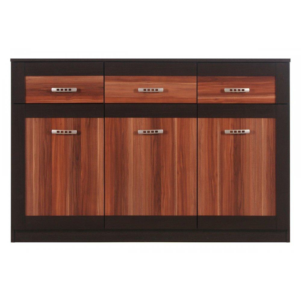 JUSThome BS06 Kommode Sideboard Wohnzimmerschrank (HxBxT): 89×135,5×40,5 cm Farbe: Maggia Eiche / Havana