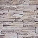 """Peel and Stick Gray Brick Pattern 23.8x195"""" Modern Minimalist PVC Wallpaper Adhesion Waterproof Removable Wall Decor Sticker for Restaurant,Bedroom,Hotel,Living Room"""