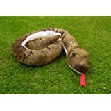 Plush Soft Toy Large Brown Snake by Zoo Trend. 210cm.