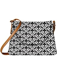 Snoogg Big Floral Pattern Designer Womens Carry Around Sling Bags