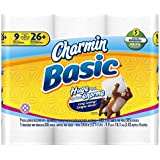 Charmin Basic Toilet Paper, 9 Huge Rolls (Pack of 4)