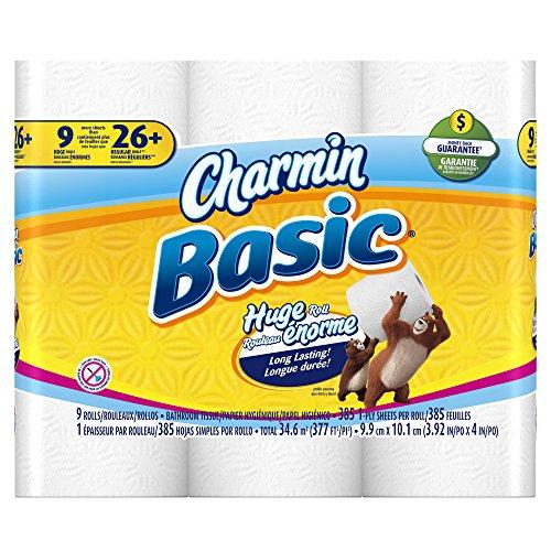 Charmin Toilet Paper Ebay: Charmin Basic Toilet Paper, 9 Huge Rolls (Pack Of 4)