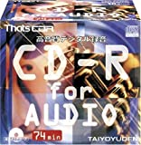 太陽誘電製 That's CD-R音楽用 16倍速74分 10mmPケース10枚入 CDR-A74CP10