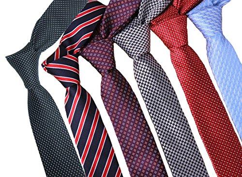Zakka Republic 6pcs Mens Fashion Business Skinny Necktie Tie Mixed Set (BTS-02A) (Skinny Mens Ties compare prices)