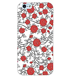 PrintDhaba ROSE PATTERN D-6336 Back Case Cover for APPLE IPHONE 6S (Multi-Coloured)