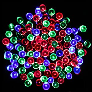 Signstek 200 LED RGB Solar Powered String Fairy Lights for Indoor Outdoor Garden Christmas Wedding Party - Multi Colour by Signstek