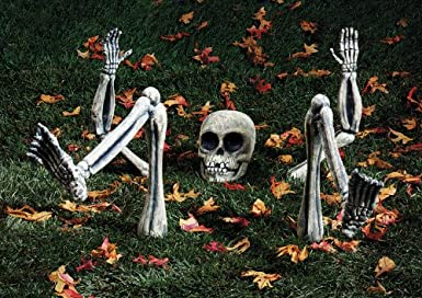 Click to buy Halloween Outdoor Lights: Ground Breaker Light Skeleton from Amazon!