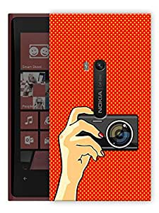 "Humor Gang Camera Selfie Printed Designer Mobile Back Cover For ""Nokia Lumia 920"" (3D, Matte, Premium Quality Snap On Case)"