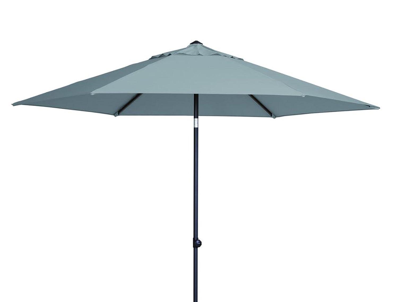 Madison Sonnenschirm Celebes 300 Push up grau mit UV-Schutz 40 Plus günstig