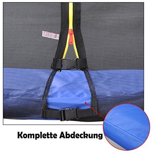 BPS Federabdeckung Randschutz Randabdeckung für Trampolin 305cm Durchmesse, blau PVC - UV beständig, passend für 300cm - 305cm ¡ -