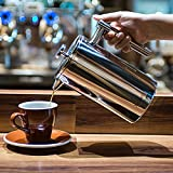 French Press, X-Chef Double Wall Stainless Steel Coffee Press Espresso Maker, (34oz,1L) Shatterproof Good Christmas Gift