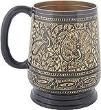 Shaw Sons Brass Black Hand Made Coffee Mug (7 x 7 x 11 cms, Black)
