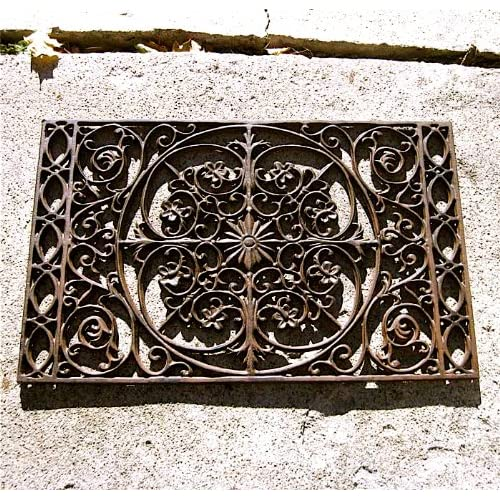 Iron victorian scrolled doormat wall decor rust finish for Victorian wall decor