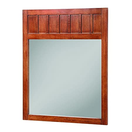 Foremost KNCM2834 Knoxville Poplar Framed Vanity Mirror, Nutmeg