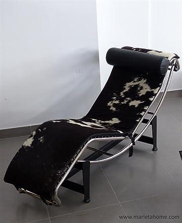 Marieta Home - Sillon Estilo Chaise Lounge LC4 Piel Potro - Le Corbusier