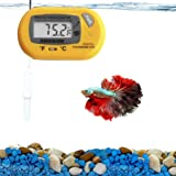 SunGrow Feathertail Betta Digital Thermometer, 2.3x1.5 Inches, PVC Material, Provides Accurate Temperature Reading in Fahrenheit or Celsius to Maintain Healthy Tank Environment, 1 Piece