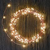 LED String Lights - 120 LED Outdoor Indoor Waterproof Starry String Copper Wire Lights - 2xC Batteries Powered