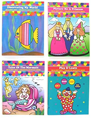 Do A Dot Art Coloring Books Gift Set Play and Learn Tales of the Mermaid Discovering My World and Picture Me a Princess Activity Book Set of 4