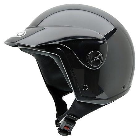 NZI 510001G000 Homologado Black Peak, Casque de Moto, Taille XS, Noir