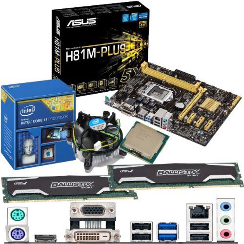 Intel Core I3 4130 3.4ghz, Asus H81m-plus Motherboard & 8gb 1600mhz Ddr3 Crucial Ballistix Sport Ram Bundle Picture