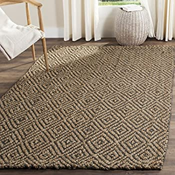 Safavieh Natural Fiber Collection NF181D Hand Woven Natural and Grey Jute Area Rug (4 x 6)